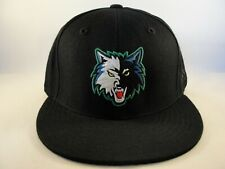 Minnesota Timberwolves NBA Adidas Fitted Hat Cap Black