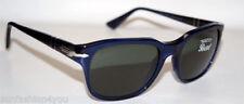 Occhiali da sole da uomo con lenti in grigio con montatura in blu Persol