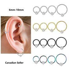 Pair Cartilage Earrings Hoop Nose Piercing Hoops stainless steel body jewelry