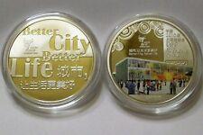 Pièce Commémorative Argent Couleur EXPO 2010 SHANGHAI CHINA Silver Colored Coin
