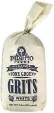 Palmetto Farms White Stone Ground Grits 2 LB - Non-GMO - Just All Natural Corn,