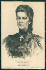 Reali Royalty Elisabeth von Österreich signed Hans Weyl cartolina XB7375