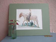 "vintage illustration of Grimm's ""Goose Girl"" girl on a horse by Tenggren 1946"