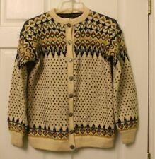 Vintage Norse knit Fair Isle Norway HandKnit Wool Cardigan Sweater Medium?