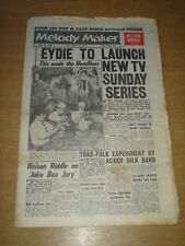 MELODY MAKER 1961 JUNE 10 EYDIE GORME JOHNNIE RAY PEGGY LEE NELSON RIDDLE +
