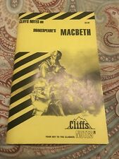 Cliffs Notes Shakespeare's MACBETH Cliffnotes Summer Reading Classic