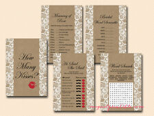 Print Yourself Lace and Burlap Bridal Shower Game Pack BS16