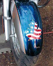 8x10 Handpainted Motorcycle Art Photo Flag Portfolio Page Airbrush Artist-Gift