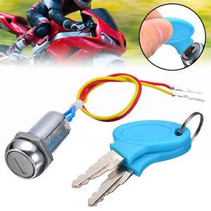 Universal 2 Wire 2 Keys Ignition Switch Key Lock Electric Bike Go Kart Scooter b