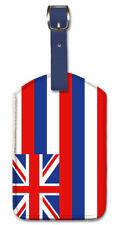Leatherette Travel Luggage Tag Baggage Label HAWAII FLAG - Union Jack plus USA