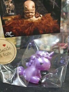 OOAK handcrafted Purple Unicorn figurine