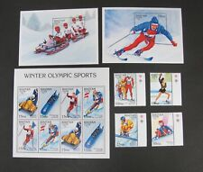 Bhutan 1992 Winter Olympic Sports Stamps & Sheets MNH