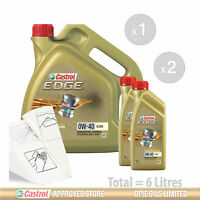Engine Oil Service Kit: 6 litres of Castrol EDGE 0w40 FST A3/B4