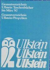ULLSTEIN - Katalog Prospekt Taschenbücher Gesamtverzeichnis März 1987 - B19487