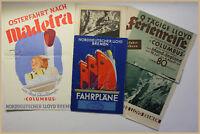 4 Original Prospekte Norddeutscher Lloyd Bremen um 1930 Ortskunde Reise sf