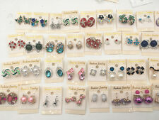 Women's Fashion 20pairs/pack assorted exquisite crystal jewelry stud earrings