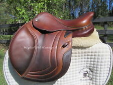"15"" CWD SE02 CALFSKIN French close contact child/ pony jumping saddle-2010 MODEL"