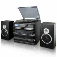 New listing Trexonic 3-Speed Vinyl Turntable Home Stereo System Cd Player, Dual Cassette