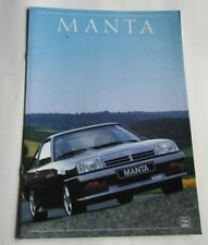 Werbeprospekt Opel Manta B GSi  NEU