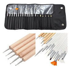 20pcs Nail Art Design Polish Liner Dotting Paint Pen Brush Gel Tool Set DIY Bag