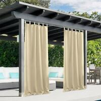 HGmart Privacy Outdoor Single Window Curtain Panel 50x108-Inch for Porch Patio