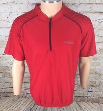 Muddyfox 1/4 Zip Short Sleeve Cycling Jersey Top Red Sz XL / Extra Large Mens