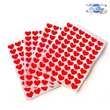 240 Love Heart Stickers 14mm - Mothers Valentines Wedding Cards Letters Gifts