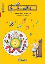 NEW >>  Jolly Phonics Songs Book + CD - Alphabet sounds NEW