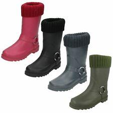 Girls Spot On Ring Strap 'Wellington Boots'