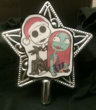 Disney inspired Jack & Sally Nightmare Before Christmas Tree Topper Ornament #2