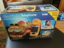 Boxed Vintage Tyco Garfield Phone Telephone W/ Open & Close Eyes