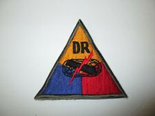 e0127 WW2 US Army Armored Tank Battalion Triangle patch DR Dispatch Rider R8E