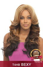 VANESSA SWISS SILK LACE FRONT BRAZILIAN HUMAN HAIR BLEND WIG LONG CURLY - BEXY