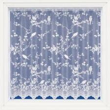 SUMMER BIRDS White Net Curtain Sold by the Meter - Many Sizes - Slot Top