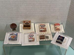 Vintage Artisan WRIGHT GUIDE Food & Kitchen Items NOS Dollhouse Miniature 1:12