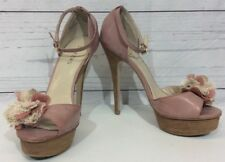 Bakers Size 7.5M Florentina Platform Stilettos Pink