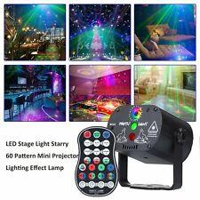 Led 60 Pattern Laser Projector Rgb Stage Lighting Party Ktv Dj Disco Lights Club