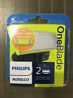 Philips Norelco OneBlade Replacement blade 2 Pack Wet and Dry Use QP220/80 #1820