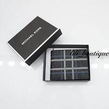 NWT Michael Kors Jet Set Mens Slim Billfold Wallet Canvas Black Multi Gift Box