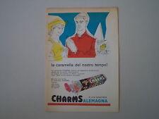 advertising Pubblicità 1960 CARAMELLE ALEMAGNA CHARMS