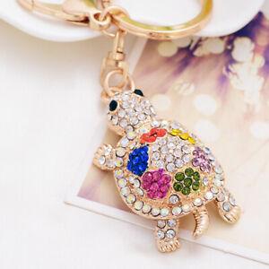 New Turtle Keychain Sparkling Keyring Blingbling Crystal Zircons Purse Pendant W