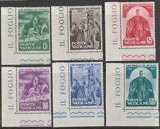 Vatican City 1960 #275-80 World Refugee Year - MNH