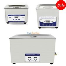 Stainless SteeI Industry Ultrasonic Cleaner Dental Digital Timed Heater 1.3-30L