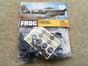 C1970s FROG NoF209F HAWKER TYPHOON 1:72 SCALE CONSTRUCTION KIT IN ORIG PACKET