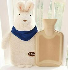 Rubber HOT WATER BOTTLE Bag WARM Relaxing Heat / Cold Therapy Rabbit USA Seller