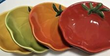 Williams Sonoma Set of 4 Tomato Shaped Dipping/ Serving Dishes