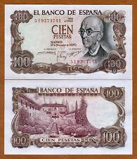 Spain, 100 pesetas, 1970, P-152, aUNC > Pre-Euro