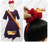 Kiki's Delivery Service Kiki Dress Cosplay Costume dress purple