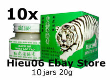 10 jars x20g White Tiger balm ointment massage cream rub Hoat Lac Cao Bach Ho