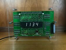 Flip Digit 7 Segment Electromechanical Clock Steampunk, upcycled retro Item
